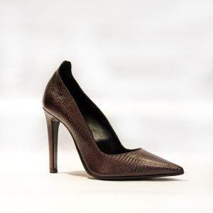Pantofi Stiletto Bordo 09786