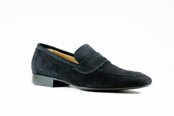 Pantofi Piele Intoarsa Bleumarin 09