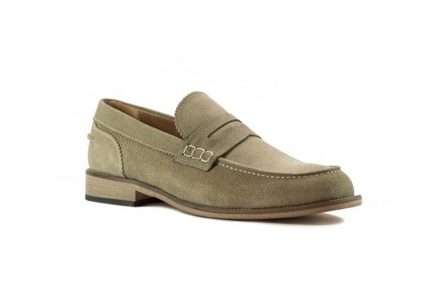 Pantofi Piele Intoarsa Beige COLEG