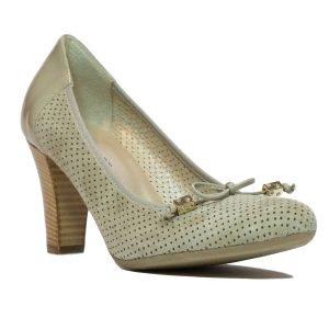 Pantofi Confort Piele Intoarsa Beige 1250