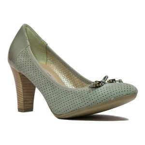 Pantofi Confort Piele Intoarsa Gri 1250
