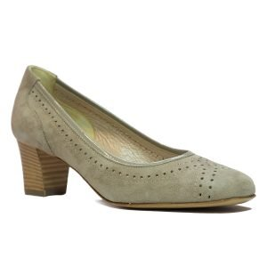 Pantofi Confort Piele Intoarsa Beige 1317