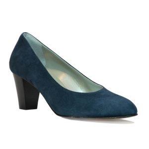 Pantofi Confort Piele Intoarsa Bleumarin 5162