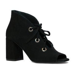 Sandale Piele Intoarsa Negre 573