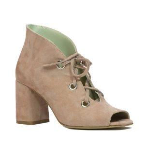 Sandale Piele Intoarsa Roz 573