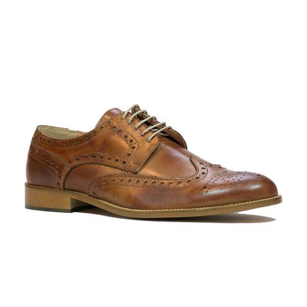 Pantofi Cognac inchis 305