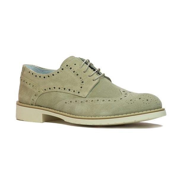 Pantofi Piele intoarsa Beige 8030