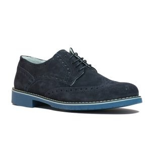 Pantofi Piele intoarsa Bleumarin 8030