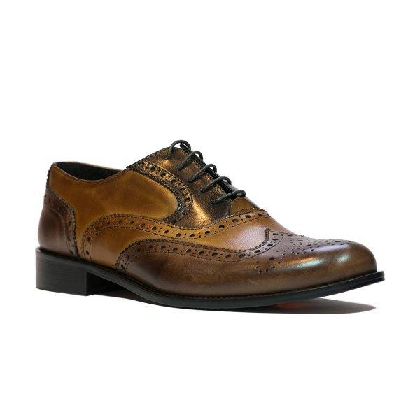 Pantofi Bicolor Maro 902