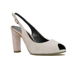 Sandale Piele Intoarsa Roz S58