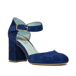 Pantofi Piele Intoarsa Blu W71