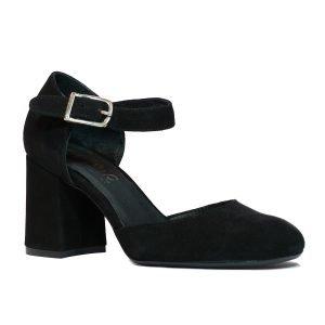 Pantofi Piele Intoarsa Negri W71