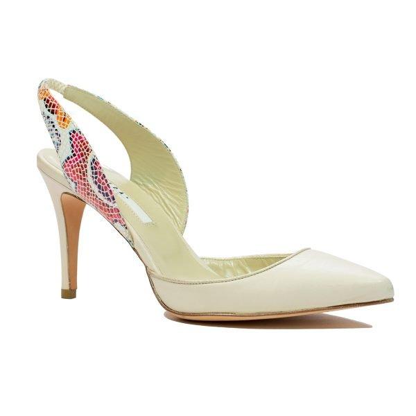 Pantof stileto bej Riri