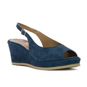 Sandale Piele Intoarsa Blu 1016