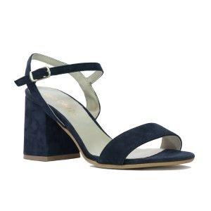 Sandale Piele Intoarsa Blu E115