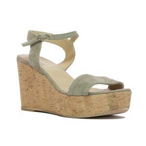 Sandale Piele Intoarsa Beige 135