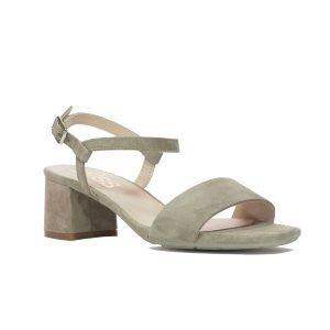 Sandale Piele Intoarsa Beige 17781