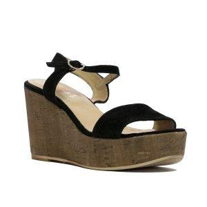 Sandale Piele Intoarsa Negru 135