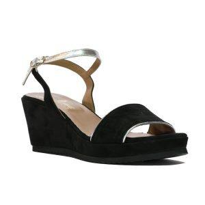 Sandale Piele Intoarsa Negru 1045