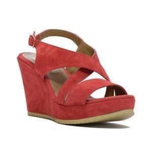 Sandale Piele Intoarsa Orange 1041