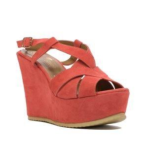 Sandale Piele Intoarsa Orange 1018