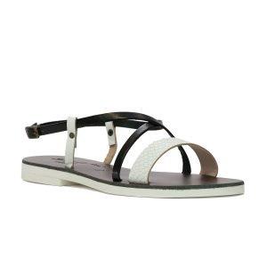 Sandale Ponza Alb Negru