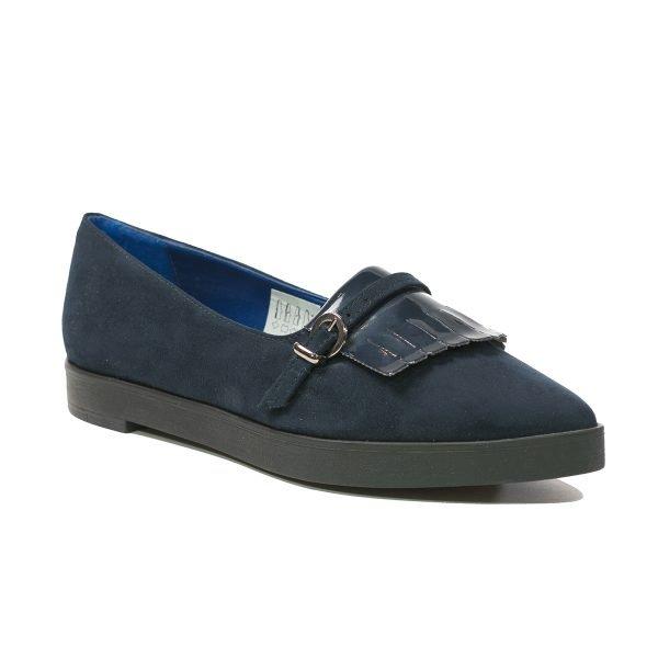 Pantofi Catifea Blu 9105