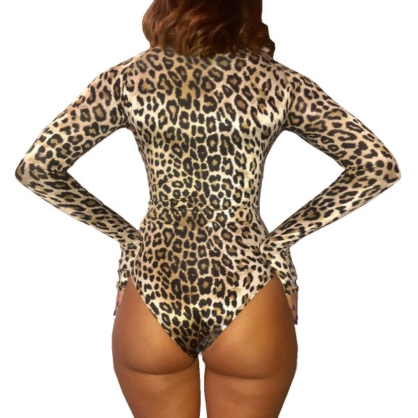 Costum de baie intreg cu maneci * Sexy in the jungle • Dharma Collection
