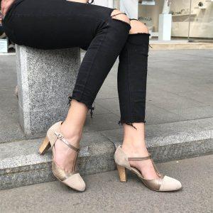 Pantofi Confort Beige 1254