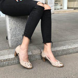 Pantofi Confort Beige 1589