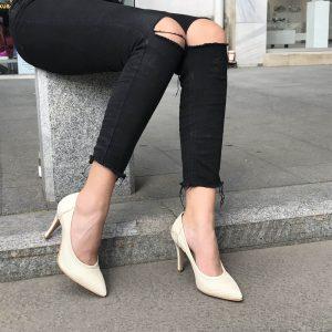 Pantofi Beige Dec090